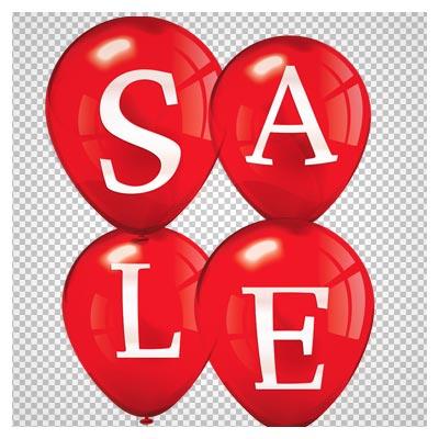 بادکنکهای قرمز تبلیغاتی با موضوع Sale