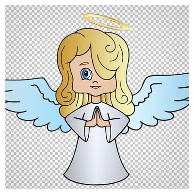 کلیپ آرت کارتونی فرشته کوچولو بدون پس زمینه