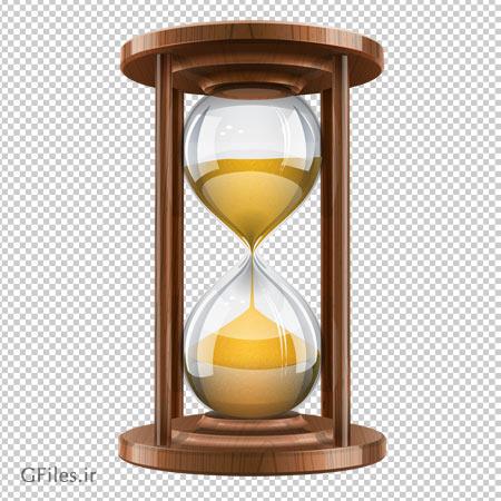 فایل ترانسپرنت و بدون پس زمینه ساعت شنی