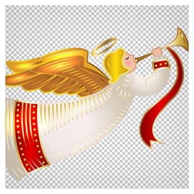 دانلود رایگان فرشته کریسمس (فرشته شیپورچی) با فرمت png