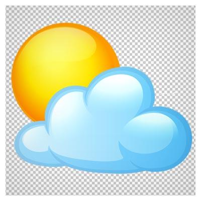 فایل png کارتونی ابر و خورشید (بدون پس زمینه)