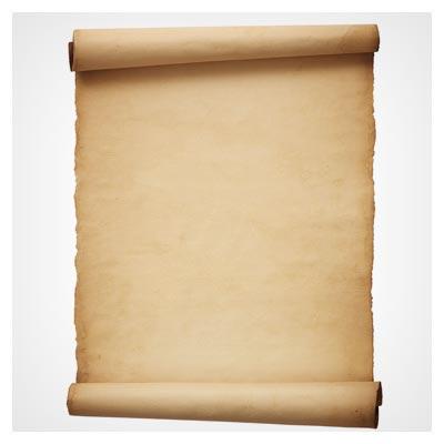 عکس طومار قدیمی (کاغذ رول شده) با کیفیت بالا