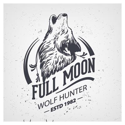 مجموعه لوگوی وکتوری و تکرنگ گرگ و روباه (Animal Logo Illustration Vintage Vector Material)