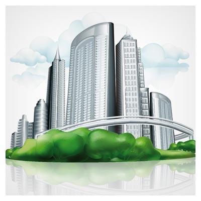 فایل Eps (وکتور) ساختمان های مدرن (Business Buildings Design vector)