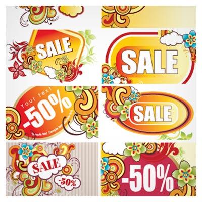 مجموعه بنرهای لایه باز با موضوع فروش و Sale و تخفیف ویژه