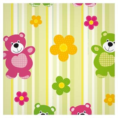 پس زمینه (پترن) کارتونی خرس کوچولو (Cartoon Bear Pattern)