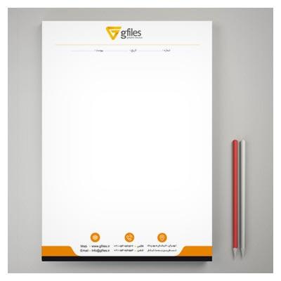 طرح لایه باز سربرگ PSD مناسب برای شرکت ها ، با کیفیت چاپ