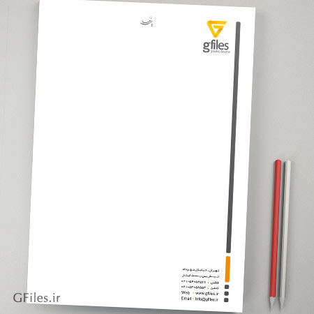 فایل PSD سربرگ اداری ، قابل ویرایش و چاپ