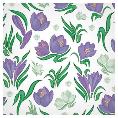 وکتور پترن (پس زمینه) گل های بنفش (گلهای زعفران)(Seamless Floral Pattern Beautiful Vector)