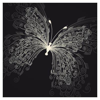 وکتور پس زمینه پروانه خطی در زمینه سیاه (Background Butterfly)