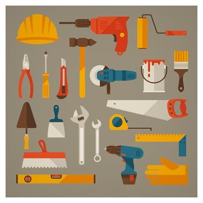 دانلود رایگان وکتور لایه باز مجموعه ابزارهای صنعتی (Vector Tool Design Set)