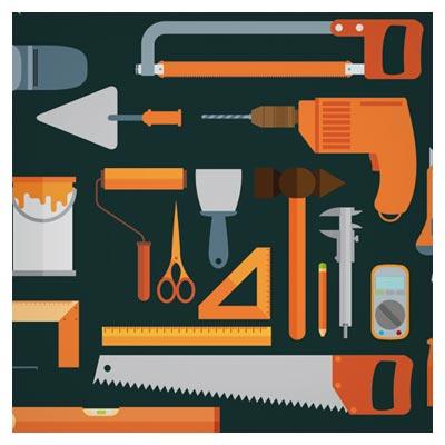 وکتور رایگان مجموعه ابزار کار (صنعتی ، نجاری و بنایی)(Vector Tool Design Set)