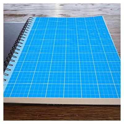 فایل لایه باز موکاپ جلد دفترچه فنری