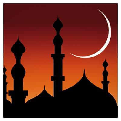 وکتور مسجد و ماه (پس زمینه ماه مبارک رمضان)(abstract Mosque vector background)