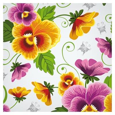 وکتور پترن (الگوی تکرار شونده) گل های بنفشه (beautiful flowers vector background)