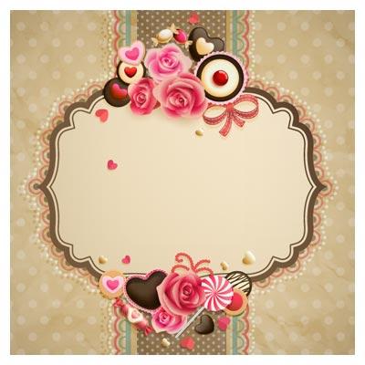 فریم و قاب زیبای لایه باز از مجموعه گل های رز بهاری