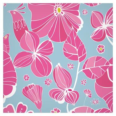 پس زمینه پترن گل های زیبای صورتی رنگ (Free Flowers background)
