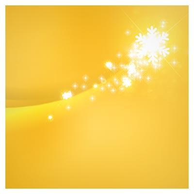 پس زمینه زرد رنگ وکتوری با دانه های برف (yellow background vector graphics)