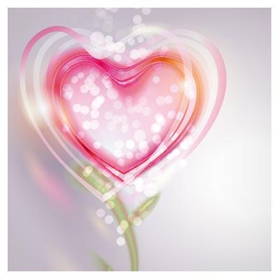 وکتور رمانتیک قلب صورتی برای ولنتاین بصورت لایه باز (Pink Valentine Love Vector Background)