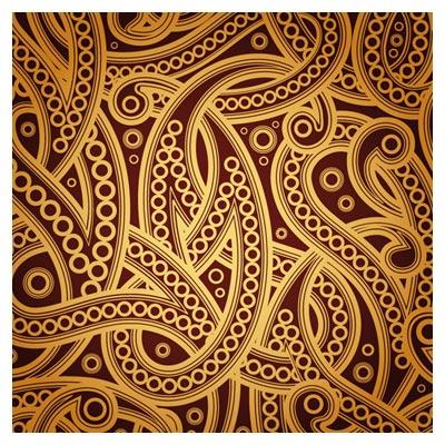 پترن زیبای بته جقه ای (ترنج) با فرمت برداری (وکتور)(European Fine Pattern Vector Background)