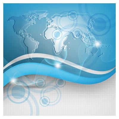 وکتور بکگراند نقشه جهان (پس زمینه خبری)(Global Technology vector background)