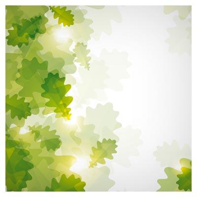 وکتور پس زمینه برگهای سبز درخت بصورت لایه باز (Green Leaf Vector Background)