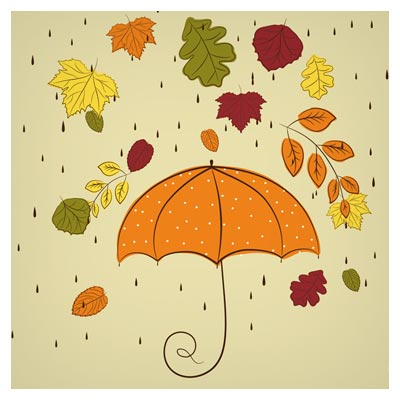 پس زمینه نقاشی شده چتر ، برگریزان و پاییز (Hand Painted Maple Leaf Background)