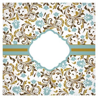 بنر لایه باز گلهای Swirl و Floral با فرمت وکتور (Pattern background Card vector)