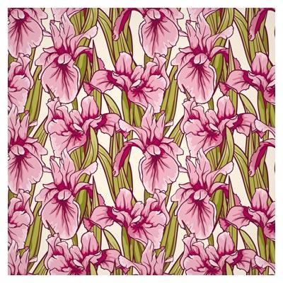 وکتور پترن و پس زمینه گلهای زنبق (Retro Patterns Background)