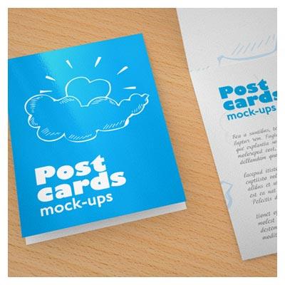 فایل پیش نمایش (Mockup) کارت پستال عمودی لایه باز