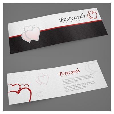 موکاپ یا پیش نمایش لایه باز کارت پستال افقی