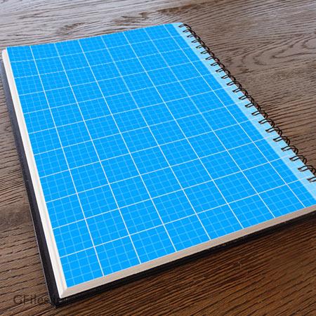 فایل موکاپ psd نمایش جلد و کاور دفترچه فنری