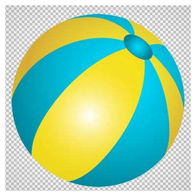 فایل بدون پس زمینه (ترانسپرنت) توپ بازی ساحلی (Beach Ball PNG ClipArt Image)