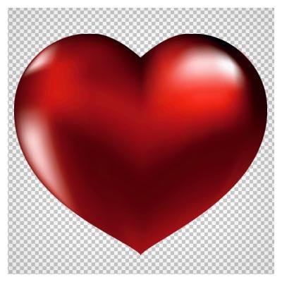 فایل png بدون زمینه قلب قرمز سه بعدی (Large Red Heart Clipart)