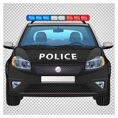 کلیپ آرت کارتونی ماشین پلیس (Police Car PNG ClipArt Image)