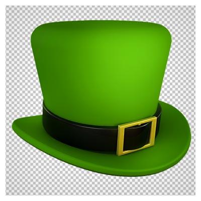 تصویر دوربری شده کلاه سبز شعبده بازی (Saint Patrick's Day Green Leprechaun)