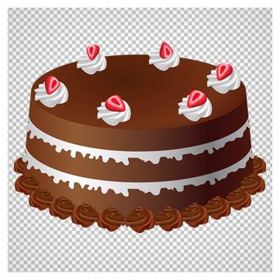دانلود رایگان فایل png کیک شکلاتی با کیفیت بالا (Chocolate Cake Art PNG Large Picture)
