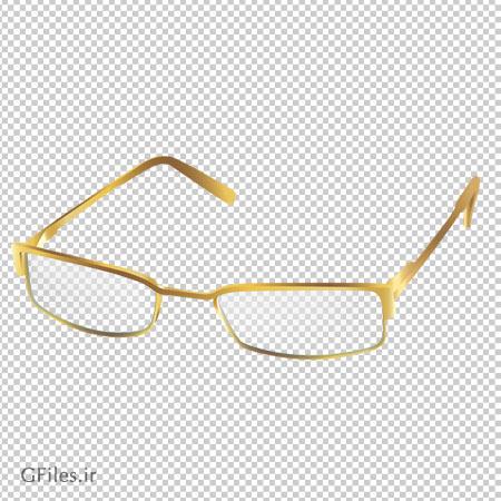 دانلود PNG دوربری شده عینک طلایی (Gold Glasses PNG Transparent ClipArt)