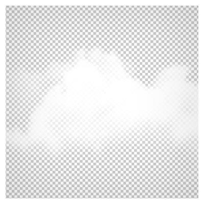 تصویر PNG بدون بکگراند ابرهای سفید با کیفیت بالا (Realistic Cloud PNG Transparent Clip Art Image)