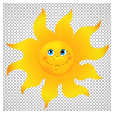 کلیپ آرت کارتونی خورشید با فرمت PNG و کیفیت بالا (Sun PNG Clipart Image)