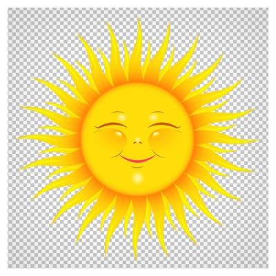 تصویر PNG خورشید کارتونی با کیفیت (Transparent Cute Sun Picture)