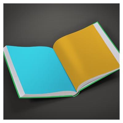 دانلود فایل PSD موکاپ کتاب باز شده بصورت لایه باز