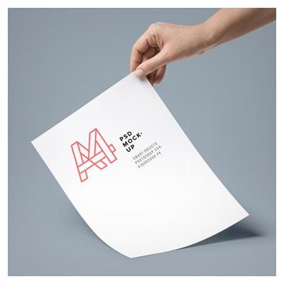 فایل نمایش سربرگ یا تراکت در ابعاد A4 بصورت سه بعدی