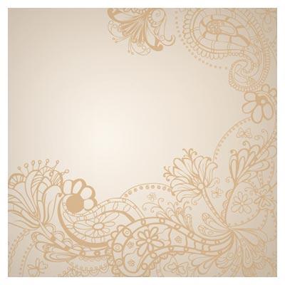 پس زمینه وکتوری Floral (بته جقه ای و ترنج)(vintage floral background)
