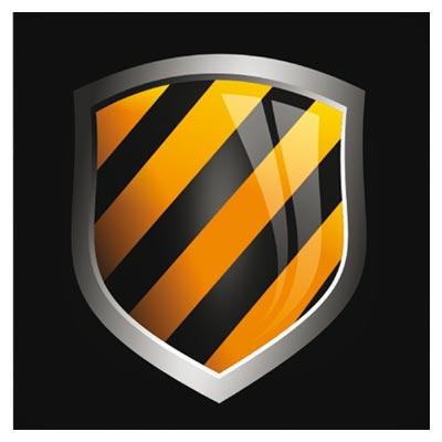 وکتور رایگان سپر و گارد شیشه ای لایه باز (Free Vector Glossy Vector Shields)