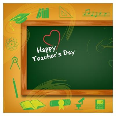 فایل وکتوری تخته سیاه و روز معلم (Happy Teachers Day Vector)