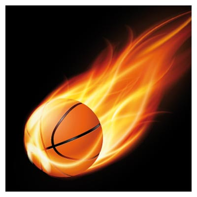 فایل رایگان توپ بسکتبال آتشین لایه باز (basketball on fire vector)