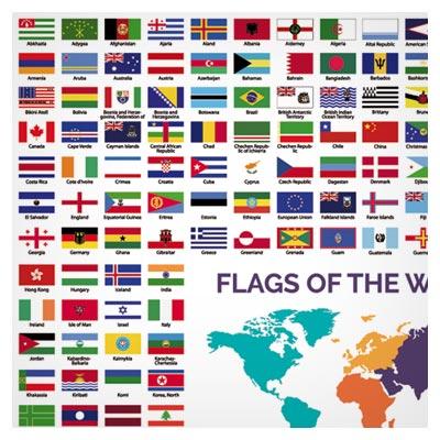دانلود رایگان مجموعه کامل پرچم کشورهای مختلف جهان (world flags collection)