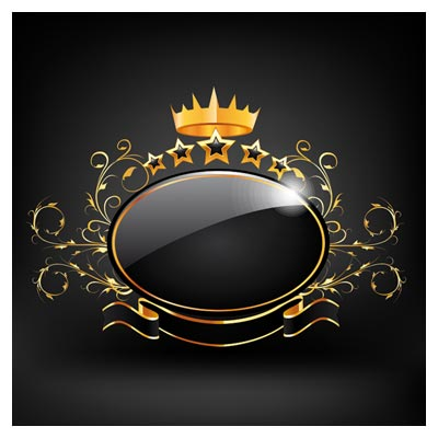 دانلود لیبل لایه باز King طلایی با فرمت وکتور (royal logo vector free download)
