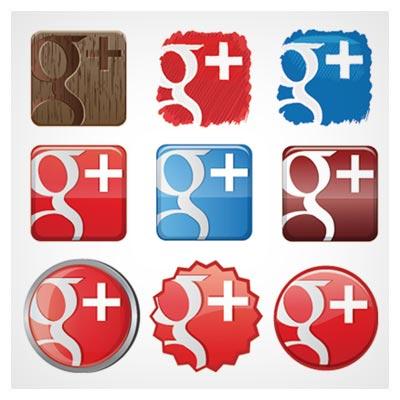مجموعه آیکون های وکتوری گوگل پلاس بصورت لایه باز (Free Google Plus Icon set)